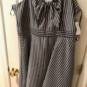 New blue and white dress from dress barn, size 10